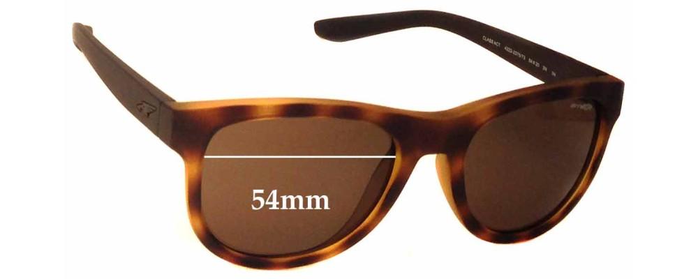 Sunglass Fix Replacement Lenses for Arnette Class Act AN4222 - 54mm Wide