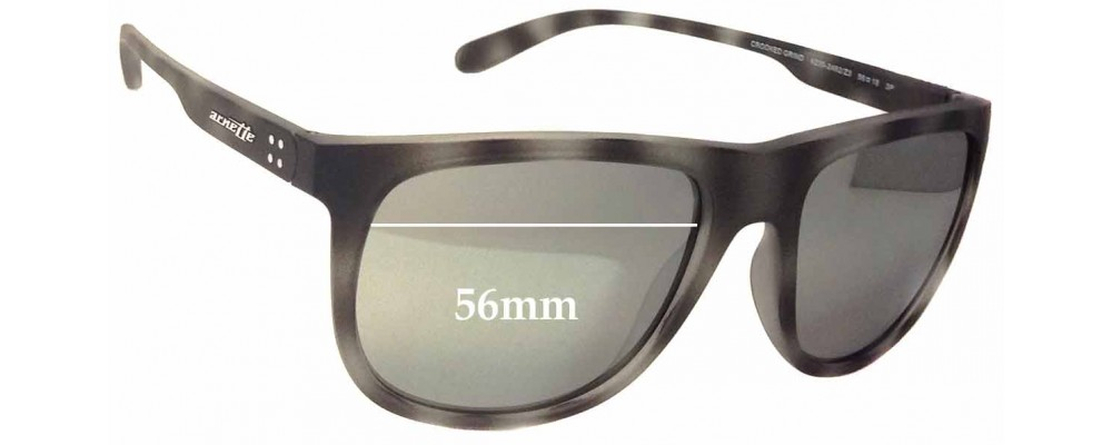 Sunglass Fix Replacement Lenses for Arnette Crooked Grind AN4235 - 56mm Wide