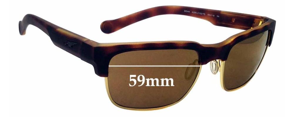 Sunglass Fix Replacement Lenses for Arnette Dean AN4205 - 59mm Wide