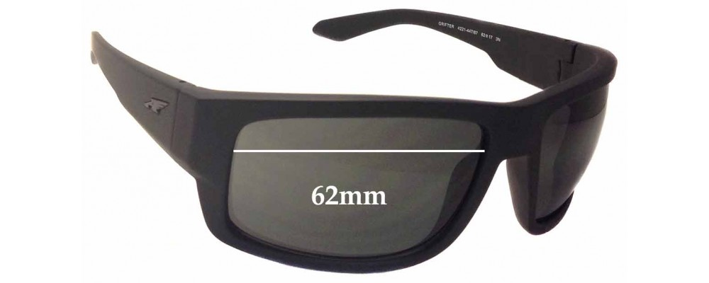 Sunglass Fix Sunglass Replacement Lenses for Arnette Grifter AN4221 - 62mm Wide