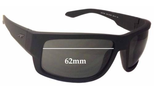 Sunglass Fix Sunglass Replacement Lenses for Arnette Grifter AN4221 - 62mm wide