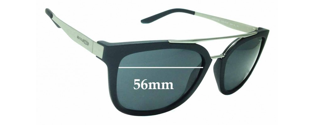 Sunglass Fix Replacement Lenses for Arnette Juncture AN4232 - 56mm Wide