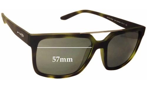 Sunglass Fix Sunglass Replacement Lenses for Arnette Petrolhead AN4231 - 57mm wide