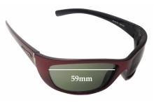 Sunglass Fix Sunglass Replacement Lenses for Arnette Player AN4073 - 59mm Wide