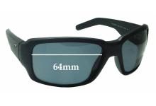 Sunglass Fix Sunglass Replacement Lenses for Arnette Racketeer AN4201 - 64mm Wide