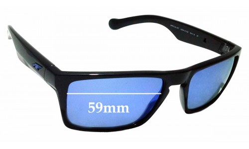 Sunglass Fix Sunglass Replacement Lenses for Arnette Specialist AN4204 - 59mm wide
