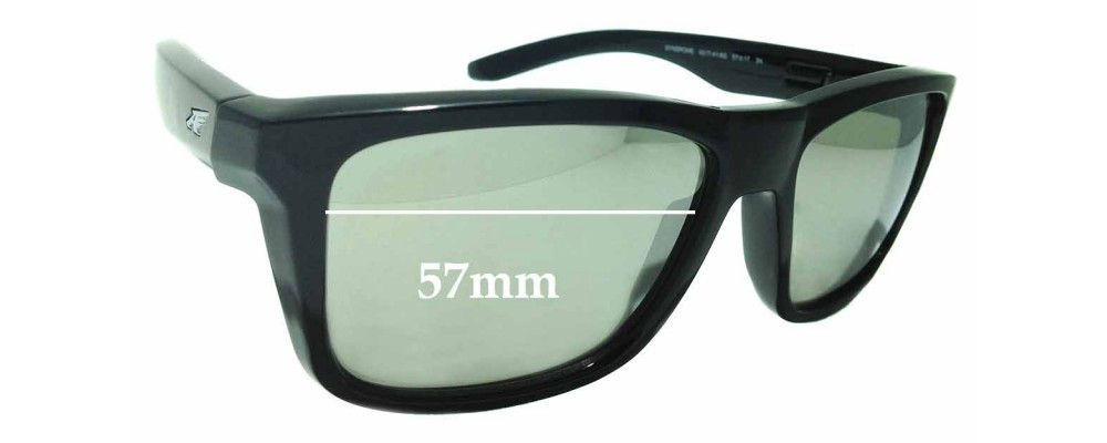 Sunglass Fix Sunglass Replacement Lenses for Arnette Syndrome AN4217 - 57mm Wide