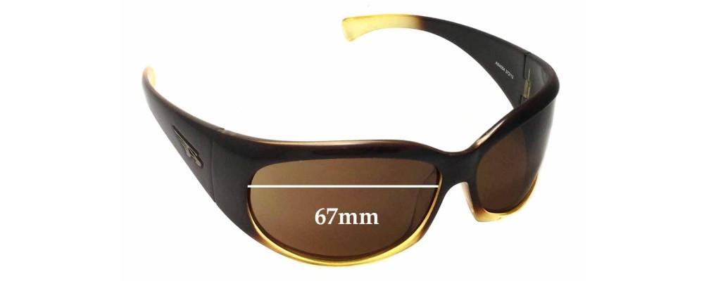 Sunglass Fix Replacement Lenses for Arnette Untouchables AN4064  - 67mm Wide