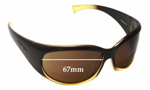 Sunglass Fix Sunglass Replacement Lenses for Arnette Untouchables AN4064 - 67mm Wide