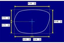 Sunglass Fix Sunglass Replacement Lenses for Austen 30001 M - 68mm Wide x 43mm Tall