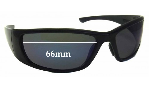 Sunglass Fix Sunglass Replacement Lenses for Bandit Hijack - 66mm Wide