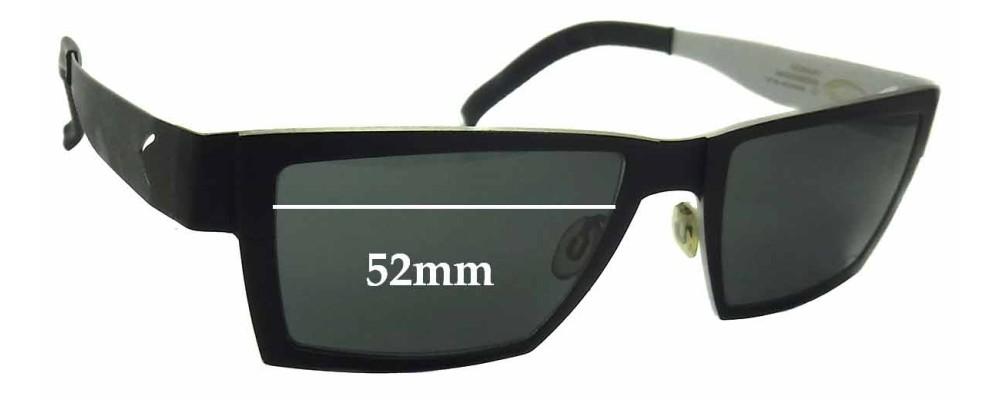 Sunglass Fix Sunglass Replacement Lenses for Blackfin BF575 Vulcano - 52mm Wide