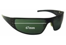 Sunglass Fix Sunglass Replacement Lenses for Bullet Hitman - 67mm Wide