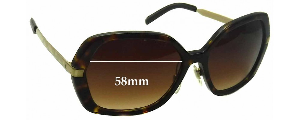 68cd5952f1b4 Sunglass Fix Sunglass Replacement Lenses for Burberry B 4153-Q - 58mm Wide