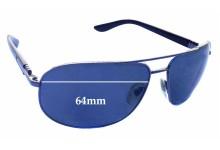 Sunglass Fix Sunglass Replacement Lenses for Bvlgari 5028 - 64mm Wide