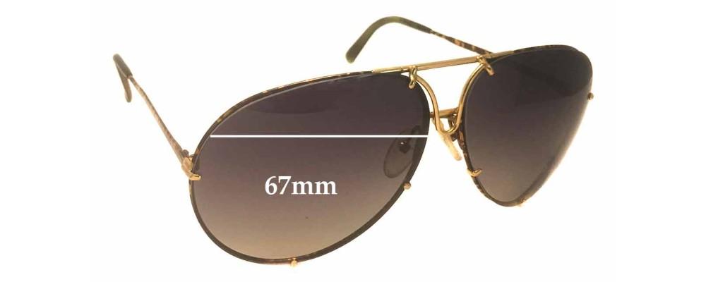 b16274263f8 Sunglass Fix Sunglass Replacement Lenses for Carrera Porsche Design 5621A -  67mm wide