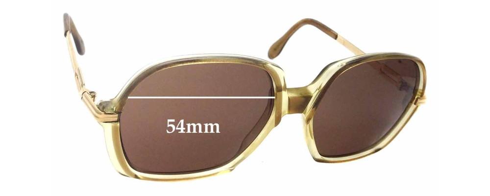 9b13130b409 Cazal Mod 306 Sunglass Replacement Lenses - 54mm Wide
