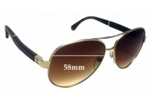 Sunglass Fix Sunglass Replacement Lenses for Chanel 4195-Q - 58mm Wide