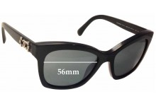 Sunglass Fix Sunglass Replacement Lenses for Chanel 5313 - 56mm Wide