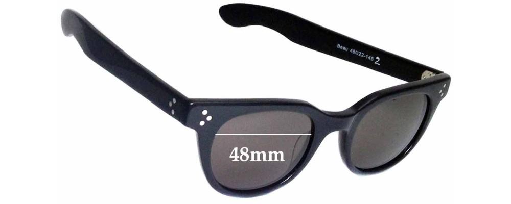 Sunglass Fix Sunglass Replacement Lenses for Circa Beau  - 48mm Wide