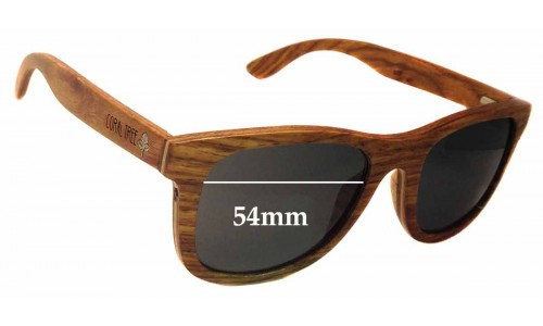 Sunglass Fix Sunglass Replacement Lenses for Coral Tree Hayman - 54mm Wide x 44mm Tall