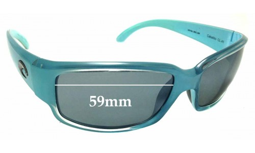 Sunglass Fix Sunglass Replacement Lenses for Costa Del Mar Caballito - 59mm Wide