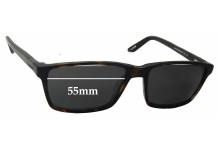Sunglass Fix Sunglass Replacement Lenses for Davidoff MOD 91041 - 55mm Wide