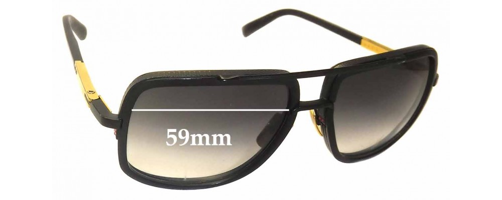 782bc519d3 Dita Mach One Sunglass Replacement Lenses - 59mm wide