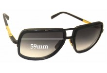 Sunglass Fix Sunglass Replacement Lenses for Dita Mach One - 59mm Wide