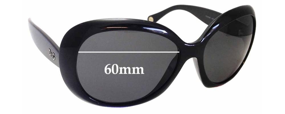 Sunglass Fix Sunglass Replacement Lenses for Dolce & Gabbana DD8058 - 60mm Wide