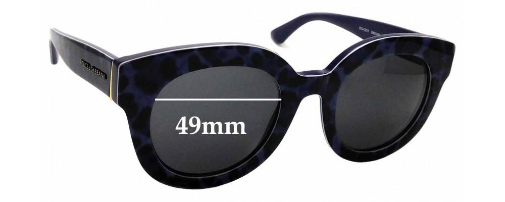 Sunglass Fix Sunglass Replacement Lenses for Dolce & Gabbana DG4235 - 49mm Wide