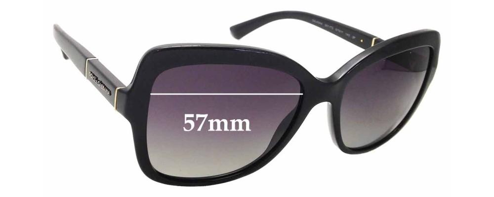 Sunglass Fix Sunglass Replacement Lenses for Dolce & Gabbana DG4244 - 57mm Wide