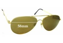 Sunglass Fix Sunglass Replacement Lenses for Dollond & Aitchison Pilot 3 - 58mm Wide