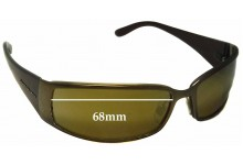 Sunglass Fix Sunglass Replacement Lenses for Donna Karan DK2513 - 68mm Wide