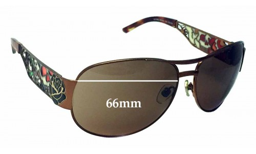 Sunglass Fix Sunglass Replacement Lenses for Ed Hardy EHT 902 - 66mm Wide