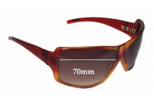 Sunglass Fix Sunglass Replacement Lenses for Electric Aux - 70mm Wide