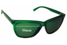 Sunglass Fix Sunglass Replacement Lenses for Electric Watts - 59mm Wide