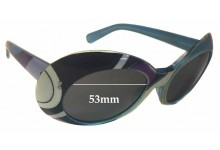Sunglass Fix Sunglass Replacement Lenses for Emilio Pucci Polyvore - 53mm Wide