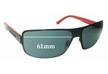 Sunglass Fix Sunglass Replacement Lenses for Emporio Armani EA2005 - 61mm Wide