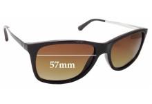 Sunglass Fix Sunglass Replacement Lenses for Emporio Armani EA 4023 - 57mm Wide