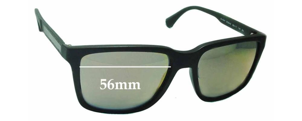 9f0633c454 Sunglass Fix Sunglass Replacement Lenses for Emporio Armani EA4047 - 56mm  Wide