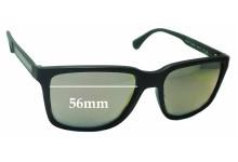Sunglass Fix Sunglass Replacement Lenses for Emporio Armani EA4047 - 56mm Wide