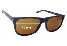 Sunglass Fix Sunglass Replacement Lenses for Emporio Armani EA4056 - 57mm Wide