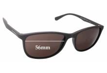 Sunglass Fix Sunglass Replacement Lenses for Emporio Armani EA4074 - 56mm Wide