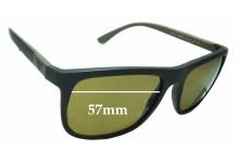 Sunglass Fix Sunglass Replacement Lenses for Emporio Armani EA 4079 - 57mm Wide