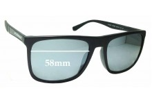Sunglass Fix Sunglass Replacement Lenses for Emporio Armani EA 4097/F - 58mm Wide