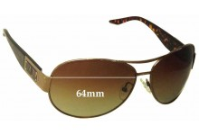 Sunglass Fix Sunglass Replacement Lenses for Armani Exchange Unknown Model - 64mm Wide x 50mm Tall