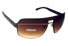Sunglass Fix Sunglass Replacement Lenses for Ermenegildo Zegna SZ 3079 - 64mm Wide
