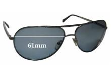 Sunglass Fix Sunglass Replacement Lenses for Ermenegildo Zegna SZ 3175 - 61mm Wide
