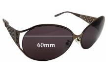Sunglass Fix Sunglass Replacement Lenses for Escada SES 681/S - 60mm Wide